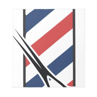 barber pole notepads