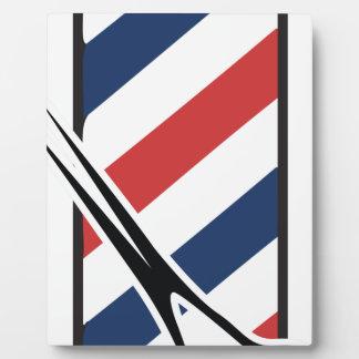barber pole photo plaques