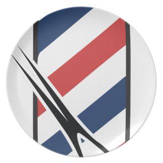 barber pole plate