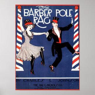 Barber Pole Rag Vintage Sheet Music Cover Image Poster
