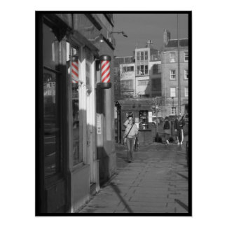 Barber Pole Red Poster
