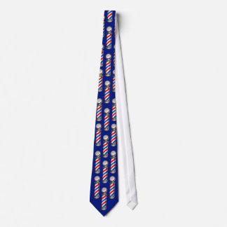 Barber Poles on Blue Tie