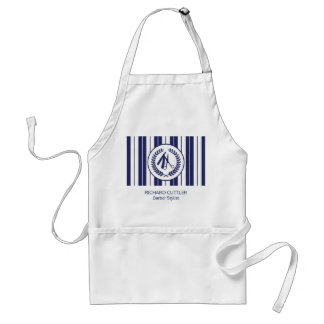 Barber salon navy white striped modern standard apron