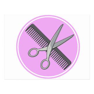 Barber Scissor and Comb Postcard