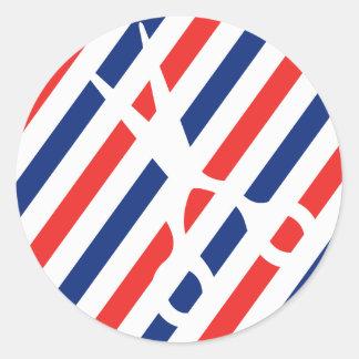 Barber Scissors Classic Round Sticker