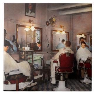 Barber - Senators-only barbershop 1937 Ceramic Tile