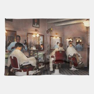 Barber - Senators-only barbershop 1937 Kitchen Towel