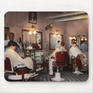 Barber - Senators-only barbershop 1937 Mouse Pad