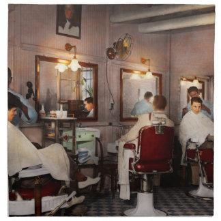 Barber - Senators-only barbershop 1937 Napkin