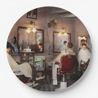 Barber - Senators-only barbershop 1937 Paper Plate