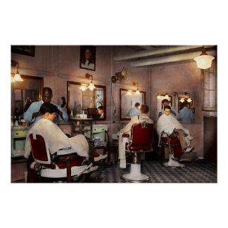 Barber - Senators-only barbershop 1937 Perfect Poster
