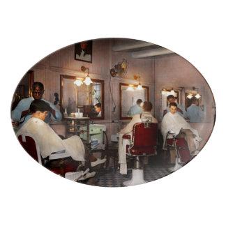 Barber - Senators-only barbershop 1937 Porcelain Serving Platter