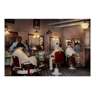 Barber - Senators-only barbershop 1937 Poster