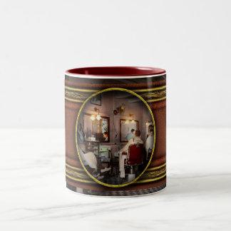 Barber - Senators-only barbershop 1937 Two-Tone Coffee Mug