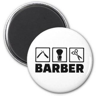 Barber set 2 inch round magnet