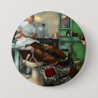 Barber - Shave - Pennepacker's barber shop 1942 3 Inch Round Button