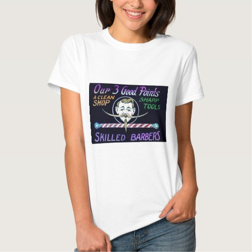 Barber shop barbers advertise your business t shirts zazzle for T shirt advertising business