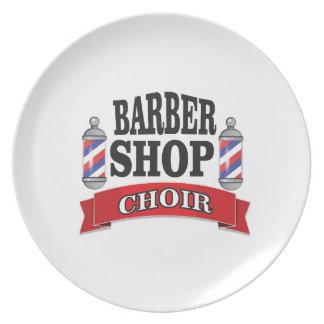 barber shop choir dinner plate