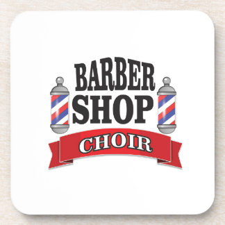 barber shop choir drink coaster