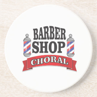 barber shop choral coaster