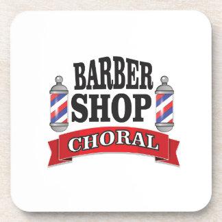 barber shop choral drink coasters