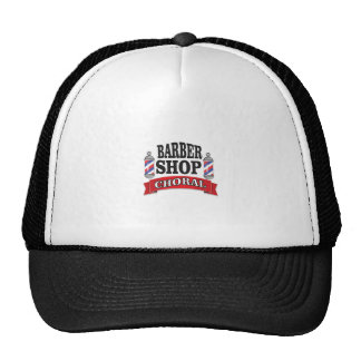 barber shop choral trucker hat