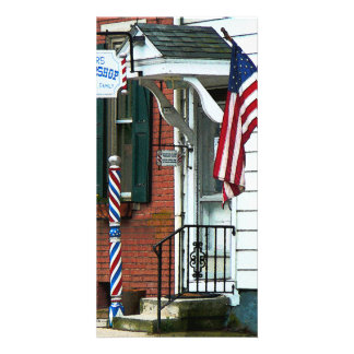 Barber Shop Entrance Personalized Photo Card