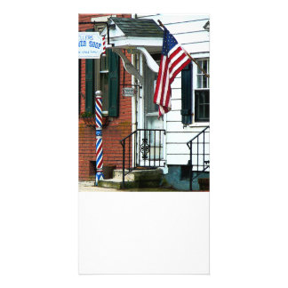 Barber Shop Entrance Photo Greeting Card