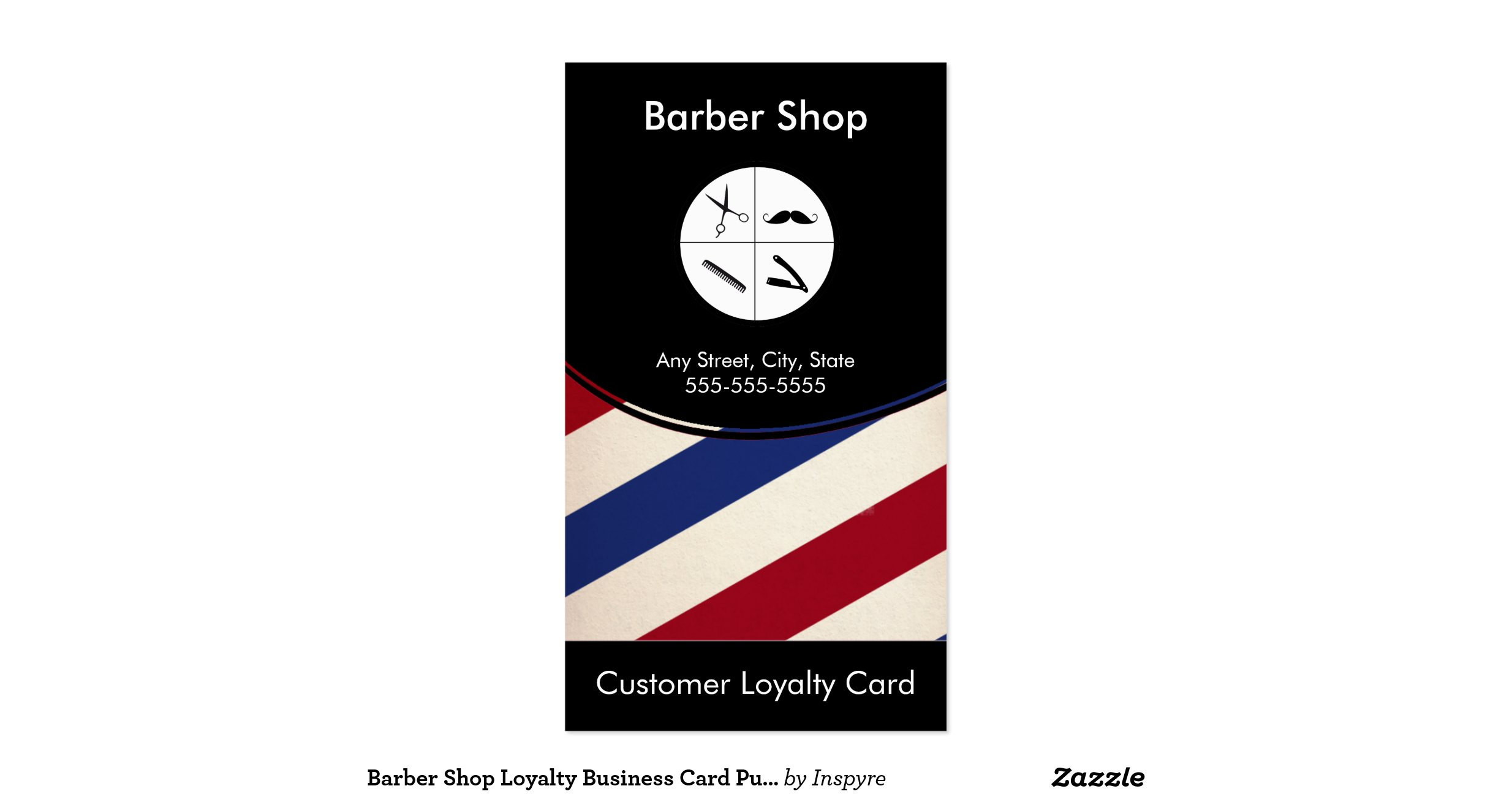 Free vertical business card template business card sample barber shop business cards zazzle reheart Choice Image