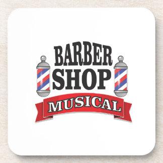barber shop musical beverage coaster