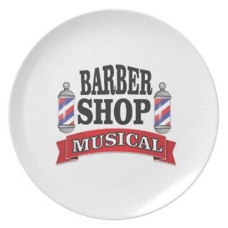 barber shop musical plate