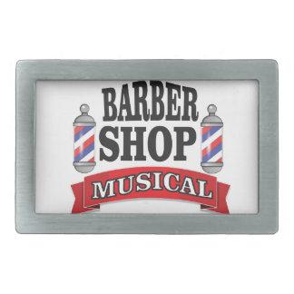 barber shop musical rectangular belt buckles