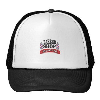 barber shop musical trucker hat
