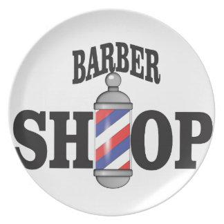 barber shop plate