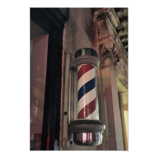 Barber Shop Pole Photo Poster