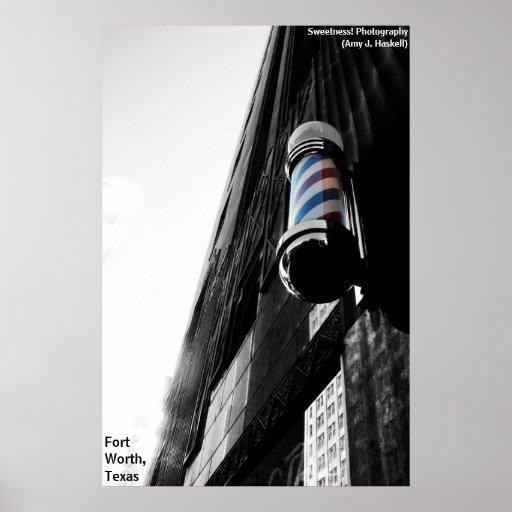 Barber Shop Pole Poster