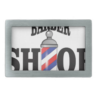 barber shop rectangular belt buckles