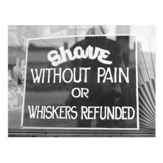Barber Shop Sign, 1942 Postcard