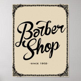 barber shop since 1902 vintage poster art print