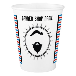 Barber shop template paper cup