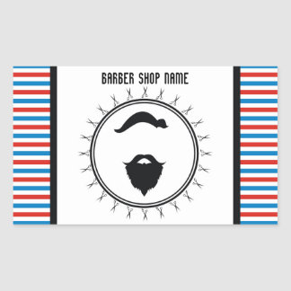 Barber shop template sticker