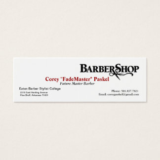 Barber 'Skinny' Business Card