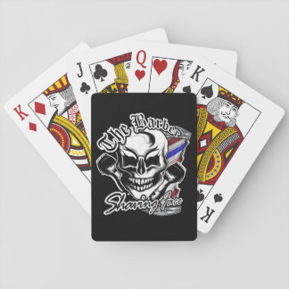 Barber Skull Playing Cards