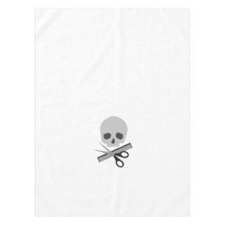 Barber skull tablecloth