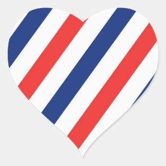 Barber Stripes Heart Sticker
