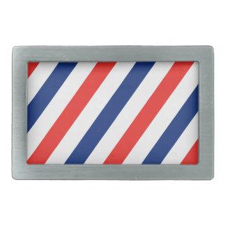 Barber Stripes Rectangular Belt Buckle
