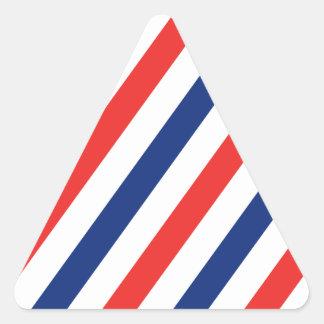 Barber Stripes Triangle Sticker
