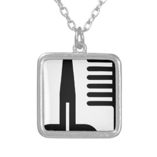 Barber Tools Silver Plated Necklace