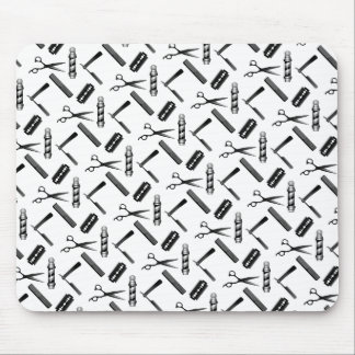 Barber's Shop Pattern Mouse Pad