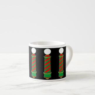 Barbershop Christmas Espresso Cup